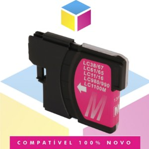 Cartucho De Tinta Brother LC-61M LC-61 Magenta Compatível | DCP-585CW MFC-490CW MFC-990CW | 13 mL
