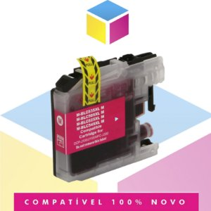 Cartucho de Tinta Brother LC-505M LC505 Magenta Compatível | DCP-J105 DCP-J100 MFC-J200 | 11ml