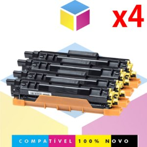 Kit com Toner Compatível com Brother TN 217 BK TN217 Preto + TN 217 C Ciano + TN 217 M Magenta + TN 217 Y Amarelo | HLL3210CW DCPL3551CDW | Compatível Evolut