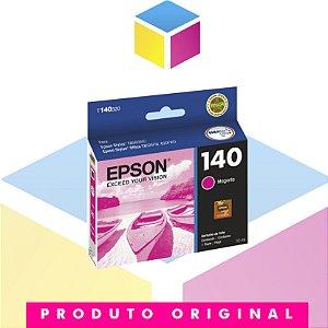 Cartucho de Tinta Epson 140 T1403 T140320 T140 Magenta Original | T42WD TX620FWD TX560WD | 10 ml