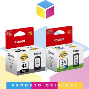 Kit Cartucho de Tinta Canon PG 44 Preto 5,6 ml + Canon CL 54 Colorido 6,2 ml | Original