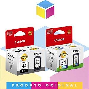 Kit Cartucho de Tinta Canon PG 44 Preto 5,6 ml + Canon CL 54 Colorido 6,2 ml | Original