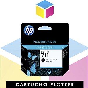 Cartucho de Tinta HP 711 Preto CZ133A Original | Plotter T120 T520 T130 CQ891A CQ890A CQ893A | 80ml
