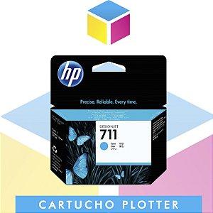 Cartucho de Tinta HP 711 Ciano CZ130A Original | Plotter T120 T520 T130 CQ891A CQ890A CQ893A | 29ml
