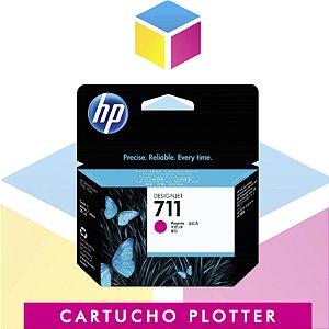 Cartucho de Tinta HP 711 Magenta CZ131A Original | Plotter T120 T520 CQ891A CQ890A CQ893A | 29ml