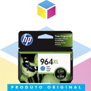 Cartucho de Tinta HP 964XL Ciano | 9010 9020 3JA54AL | Original 23 ml