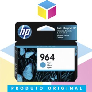 Cartucho de Tinta HP 964 Ciano | 9010 9020 3JA50AL | Original 11,5 ml