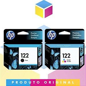 Kit HP 122 Original Preto 2 ml + HP 122 Original Colorido 2 ml |  HP 122 CH 561 HB