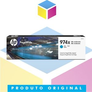 Cartucho de Tinta HP 974X L0R99AB Ciano Original | 452DN 452DW 477DN 477DW 552DW 577DW 577z | 85,5ml