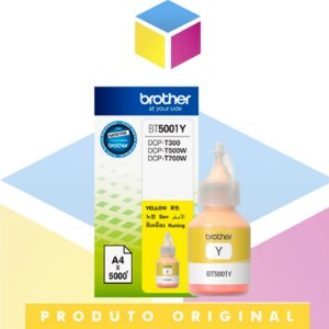Tinta Brother BT-5001Y BT5001 Amarelo Original | DCP-T300 DCP-T500W DCP-T700W MFC-T800W | 41.8ml