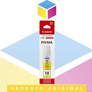 Tinta Canon Gl 10 GI-10 Y Amarelo Yellow | Tanque de Tinta Pixma Maxx G 5010 G 6010 G 7010 | Original 70ml