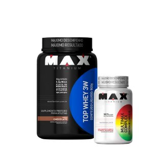 Top Whey 3w + Multivitaminico - Max Titanium