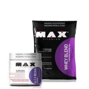 Whey blend (2kg) + BCAA Pó (280g) Max Titanium