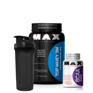 Top Whey 3W (900g) + BCAA 2400 (60caps)