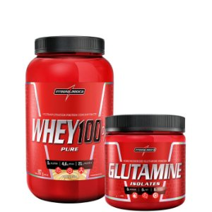 100% Whey + Glutamina - Integralmedica