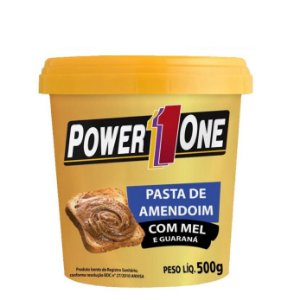 Pasta de Amendoim Mel e Guaraná (500g) - Power One
