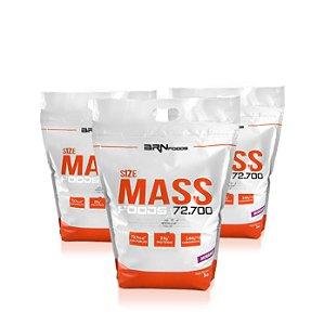 3x Size mass (3kg cada) - BRN Foods
