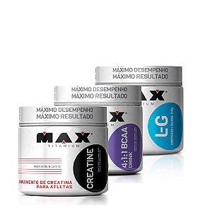 Crea. (300g) + L-Glutamina (300g) + Bcaa Drink (280g) - Max Titanium