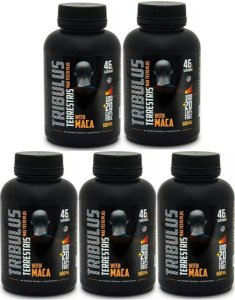 KIT  5x Max testo plus 750mg com Maca Peruana - 600caps