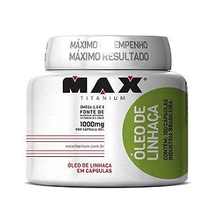 ÓLEO DE LINHAÇA (100 cápsulas ) - MAX TITANIUM