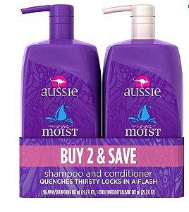 Aussie Shampoo e Condicionador Moist  - 865 ml cada