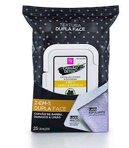 Lenço de Limpeza Dupla Face - Carvão Detox