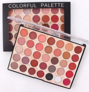 PALETA COLORFUL PALETTE COLOR E GLITTER  - 35 CORES  - N1