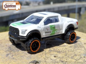 Picape PM SP Ambiental HotWheels 1/64 Ford F-150