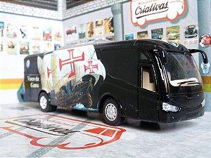 Miniatura Ônibus Vasco Da Gama - Em Metal - Time De Futebol