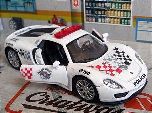 Oferta - miniatura Porsche 918 Spyder Polícia Militar Pm Sp - Atual