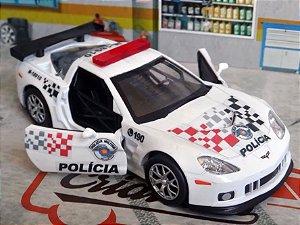 Oferta - miniatura Corvette C6-r Polícia Militar Pm Sp - Atual