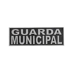 Emborrachado Guarda Municipal Para Bornal de Perna 16x5cm