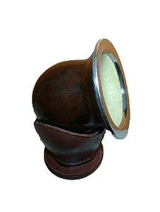 Cuia natural estilo uruguaia , toda em porongo com borda em aço inox