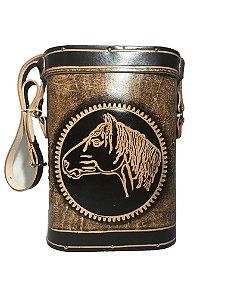 Mateira couro 1 Litro cavalo