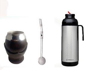 Kit Uruguaio cuia coquinho bomba inox e térmica