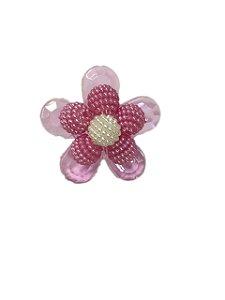 Enfeite de chimarrão flor roxa