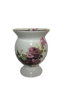 Cuia cerâmica flores