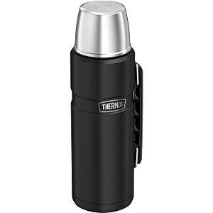 Garrafa Térmica Thermos 1,2 Litros Inquebrável Preta