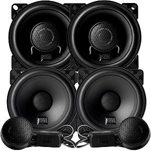 Alto Falante Kit 2 Vias Nar Audio 4 Polegadas 400cs1 + Coaxial 400cx1 200rms Som Automotivo