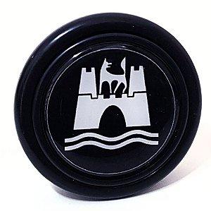 Botão De Buzina P/ Volante Esportivo Lotse Emblema Wolfsburg Padrão 55mm