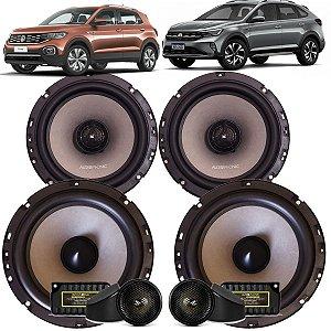 Kit Falante Audiophonic Sensation 240w Rms Vw Nivus T-cross  Som Automotivo