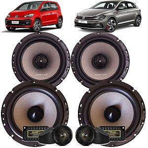 Kit Falante Audiophonic Sensation 240w Rms Vw Polo Up Fox Som Automotivo