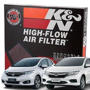 Filtro De Ar Esportivo Original K&n Honda Fit City Hrv 1.5 Kn 33-3030