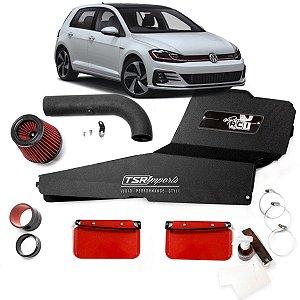 Kit Intake Race Chrome + Filtro De Ar Esportivo Golf Gti Mk7 Mk7,5 Rci086