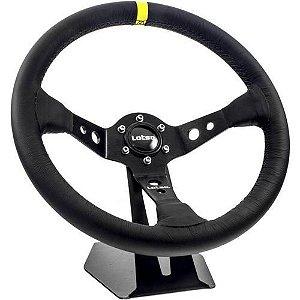 Volante Esportivo Lotse Dakar Couro Tarja Amarela