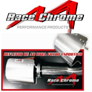 Defletor Race Chrome Para Filtro De Ar Esportivo Race Chrome