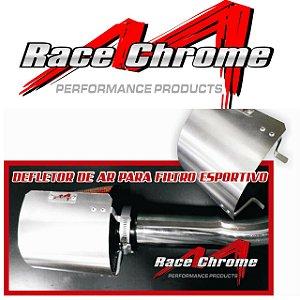 Defletor de Calor Race Chrome Para Filtro De Ar Esportivo Conico