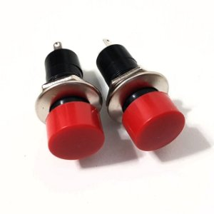 Botão Vermelho 2 Unidades Para volante Esportivo Acionamento Buzina