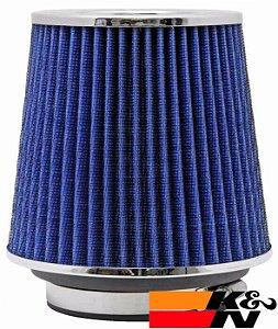 Filtro De Ar Esportivo K&N Duplo Fluxo RG1001BL Azul - Original