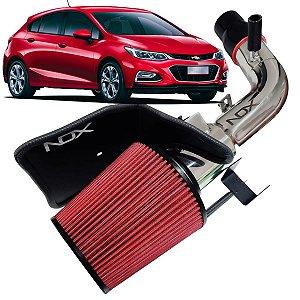 Kit Intake Nox + Filtro De Ar Esportivo Cruze 1.4 Turbo Lt Ltz